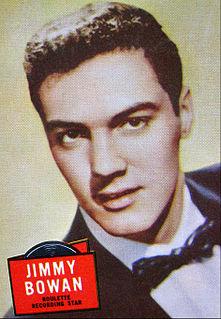 Jimmy Bowen US singer, music producer