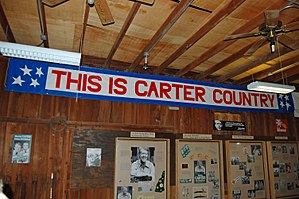 Jimmy Carter National Historic Site - Image: Jimmy Carter campaign headquarters, inside, Plains, GA, US