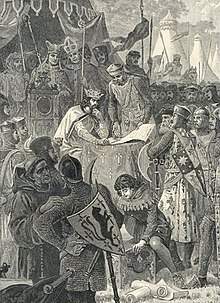 King John is forced to sign the Magna Carta in 1215