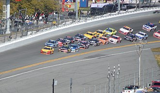 2015 Daytona 500 - Joey Logano took the lead for the first time on the 47th lap.