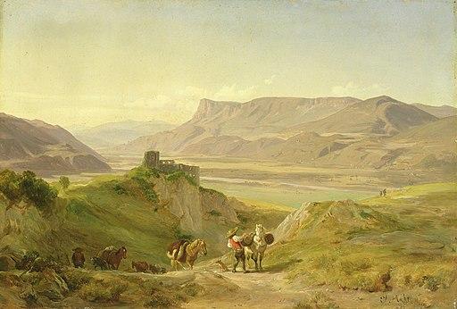 Johann Georg Paul Mohr - Die Ruine der Burg Brunnenberg (1838)