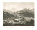 Johann Jakob Meyer - La ville de Bormio en venant du Col de Stilfs - 1831.png