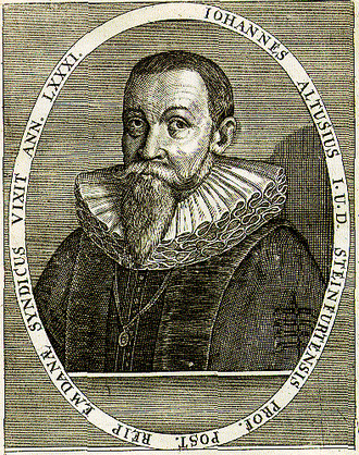 Johannes Althusius - Johannes Althusius, engraving by Jean-Jacques Boissard.