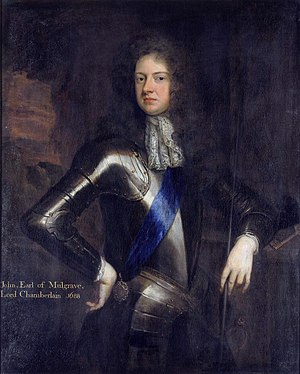 Buckingham, Colonel of the regiment 1673-1682 & 1684-1685 JohnSheffield.jpg