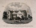 John Howard; his birthplace in Clapton, Middlessex. Etching Wellcome V0018735.jpg