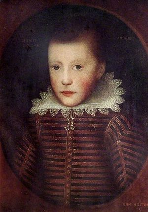 Early life of John Milton - John Milton at age 10 by Cornelis Janssens van Ceulen