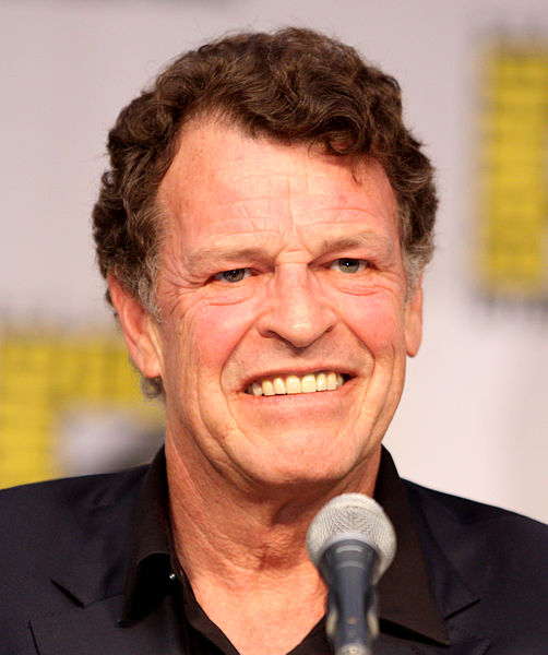 The 68-year old son of father (?) and mother(?), 185 cm tall John Noble in 2017 photo