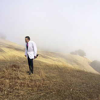 John Perry Barlow - Barlow serving as wedding minister at Mount Tamalpais on July 11, 2014