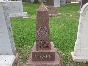 John Tower - John Tower cenotaph at the Texas State Cemetery in Austin, Texas