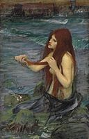 John William Waterhouse - A Mermaid (sketch).jpg