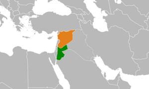 Jordanian–Syrian border incidents during the Syrian Civil War - Image: Jordan Syria Locator