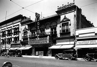San Jose Improv - Jose Theatre built in 1904, this photo taken in 1935