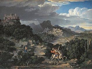 Heroische Landschaft mit dem hl. Georg