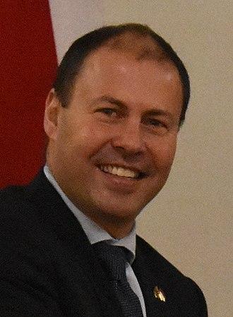 Treasurer of Australia - Image: Josh Frydenberg Jakarta