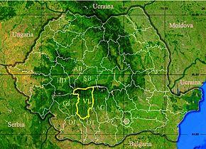 Harta Romania Ramnicu Valcea Harta
