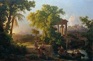 Landschaft mit der Berufung des Hl. Petrus