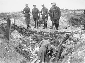Walter Norris Congreve - Lieutenant-General Congreve inspecting captured German trenches near Fricourt along with King George V, the Prince of Wales, General Sir Henry Rawlinson and Lieutenant Harding of the Royal Engineers in 1916.