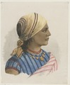 KITLV - 36B226 - Borret, Arnoldus - Hindustani woman with headscarf and jewelry - Water colour - Circa 1880.tif