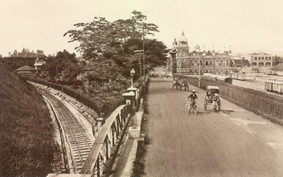 KITLV - 79944 - Kleingrothe, C.J. - Medan - Headquarters of the F.M.S. Railways at Kuala Lumpur - circa 1910