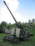 KS-19 anti-aircraft gun at the Muzeum Polskiej Techniki Wojskowej in Warsaw (2).JPG