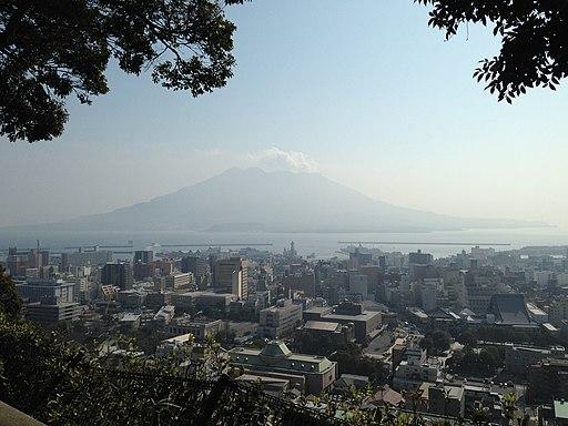 Kagoshima City and Mount Sakurajima from Mount Shiroyama 3