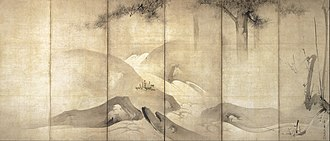 Kaihō Yūshō - Image: Kaihô Yûshô Pine and Plum by Moonlight Google Art Project
