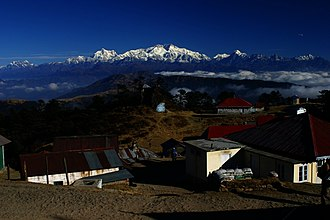 Geography of West Bengal -  Singalila Range and Kanchenjungha from Sandakphu
