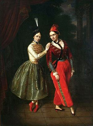 Le Diable amoureux (ballet) - The Strauss sisters, Leila and Asmodée, 1853, by Jan Ksawery Kaniewski