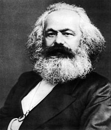 Karl Marx posits that a society's dominant ideology is integral to its superstructure. Karl Marx.jpg