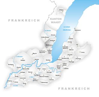 Bellevue, Switzerland - Image: Karte Gemeinde Bellevue
