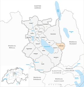 Map of Hildisrieden