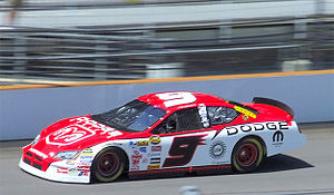 Kasey Kahne - Kahne races by in the No. 9 Dodge Charger.