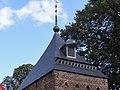 Kasteel Helmond, poorttoren 2, de oostelijke, dak met duiventilgaten.JPG