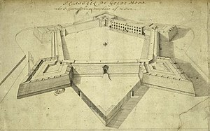 History of the Cape Colony before 1806 - Sketch of Castle of Good Hope Courtyard in 1680