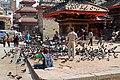Kathmandu-Durbar Square-42-Mahavishnu-Kal Bhairav-Minitempel-Tauben-2013-gje.jpg