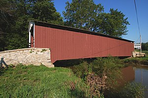 Chiques Creek - Kauffman's Distillery Covered Bridge spans Chiques Creek in Lancaster County, Pennsylvania