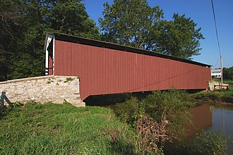 Penn Township, Lancaster County, Pennsylvania - Image: Kauffman's Distillery Covered Bridge Side View 3000px