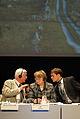 Kent Olsson och Valentina Pivnenko leder diskussionen pa BSPC-s mote i Visby 2008-09-02.jpg