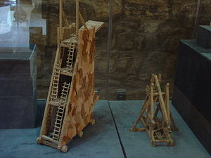 Siege of Kerak - Demonstrations of war machines used during the Siege of Kerak in Kerak Castle Museum