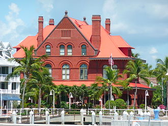 Old Post Office and Customshouse (Key West, Florida) - Image: Key West Customs House back