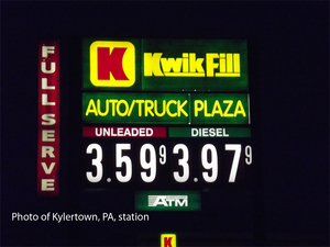 John Catsimatidis - Kwik Fill sign, January 2013.