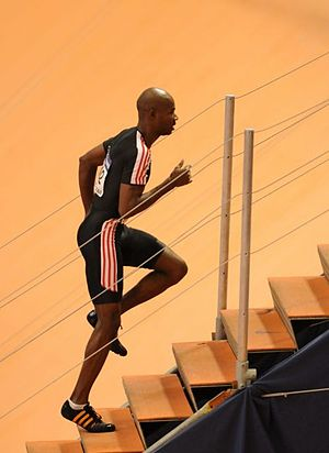 Kim Collins - Kim Collins during World Indoor Championships 2008 in Valencia