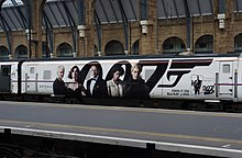 Livrea speciale di un DVTs della British Railways dedicata all'uscita in home video di Skyfall, London King's Cross, aprile 2013.