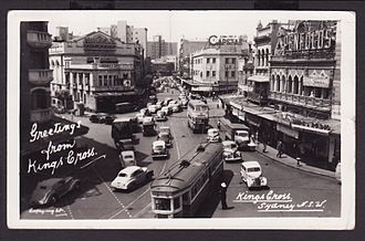 Trams in Sydney - Kings Cross 1950