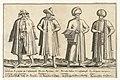 Kleding van handelaren in Constantinopel rond 1580 Traditionele kleding van over de hele wereld rond 1580 (serietitel), RP-P-1896-A-19131.jpg