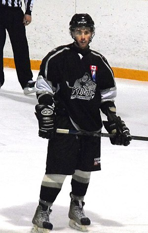 Greater Metro Junior A Hockey League - Knights of Meaford player during 2014–15 season.