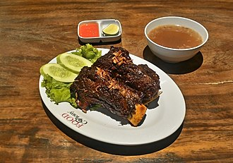 Konro - Konro bakar, a variant of konro which is spiced beef ribs