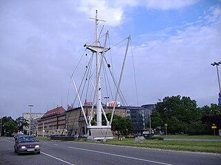 Mast des Segelschiffs s/s Kapitan K. Maciejewicz. (Bild © 2005 by Janusz Jurzyk, Wikipedia)