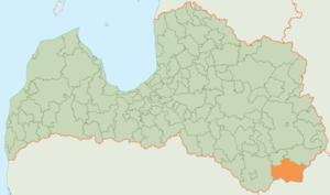 Krāslava Municipality - Image: Krāslavas novada karte