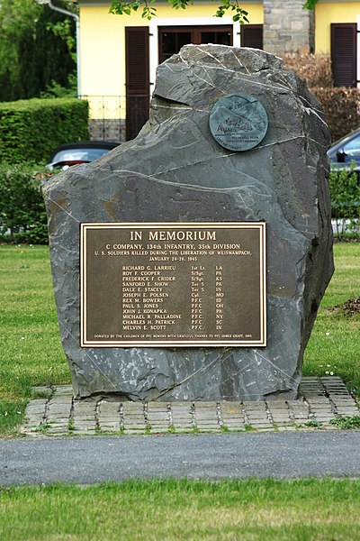 Memorial 35th US-Divison in Weisswampach (Luxembourg)